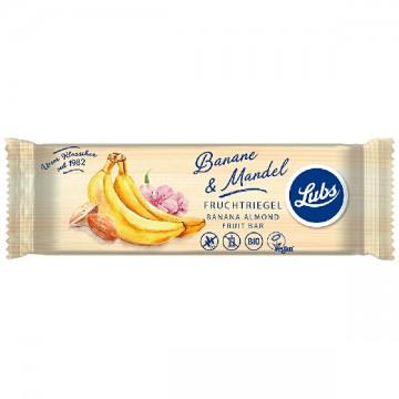 LUBS bio gyümölcsszelet (banán-mandula) 40 g - gluténmentes