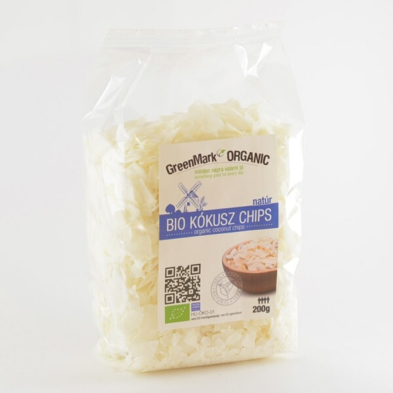 Bio Kókusz chips, natúr, 200g