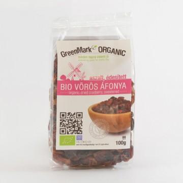 Bio Vörös áfonya, aszalt, édesített 100g